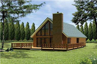 Front elevation of Country home (ThePlanCollection: House Plan #138-1332)