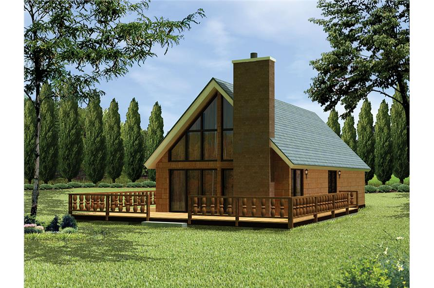3-Bedroom, 1354 Sq Ft Country Home Plan - 138-1332 - Main Exterior