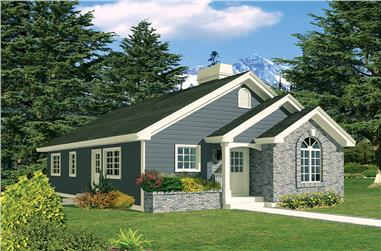 3-Bedroom, 1112 Sq Ft Ranch House Plan - 138-1335 - Front Exterior
