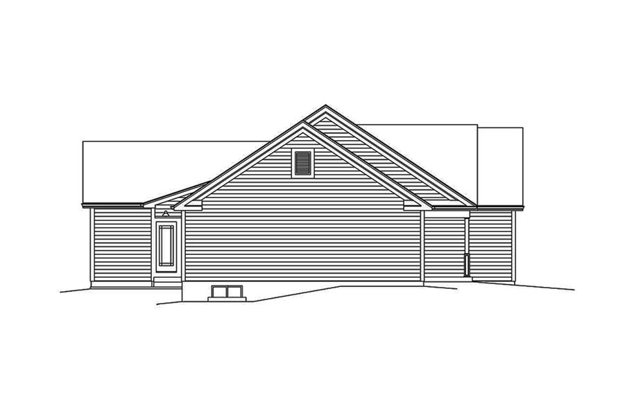 Home Plan Left Elevation of this 3-Bedroom,1994 Sq Ft Plan -138-1338