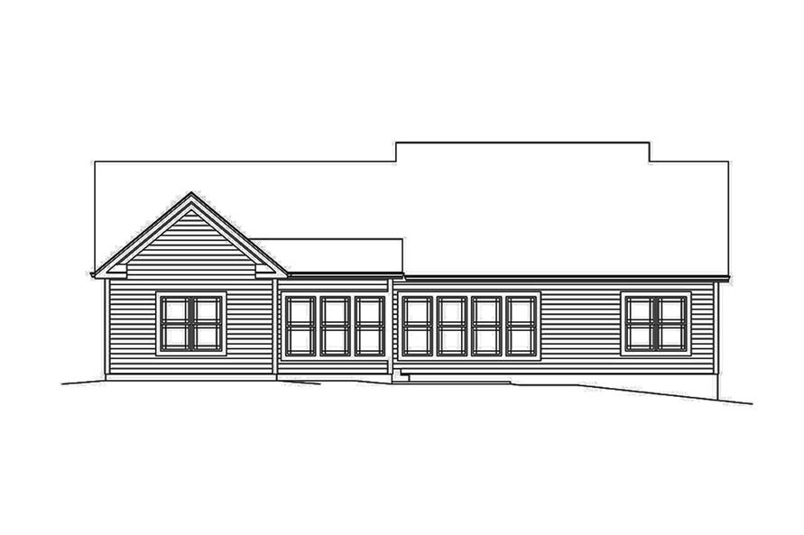 Home Plan Rear Elevation of this 3-Bedroom,1994 Sq Ft Plan -138-1338