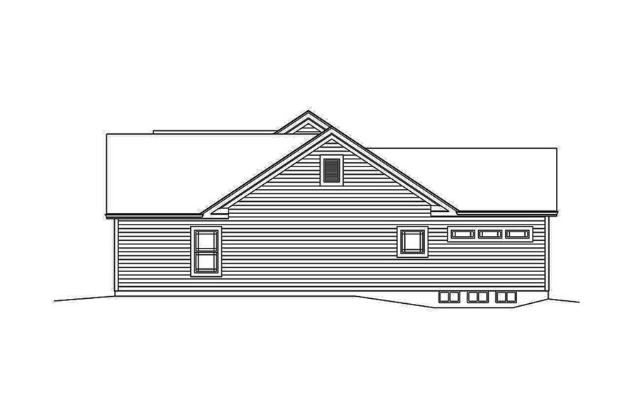 Home Plan Right Elevation of this 3-Bedroom,1994 Sq Ft Plan -138-1338