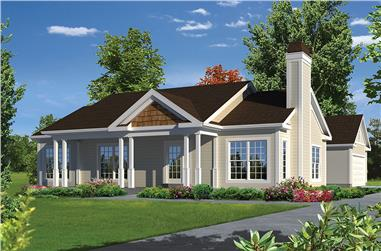 3-Bedroom, 1368 Sq Ft Country House Plan - 138-1339 - Front Exterior