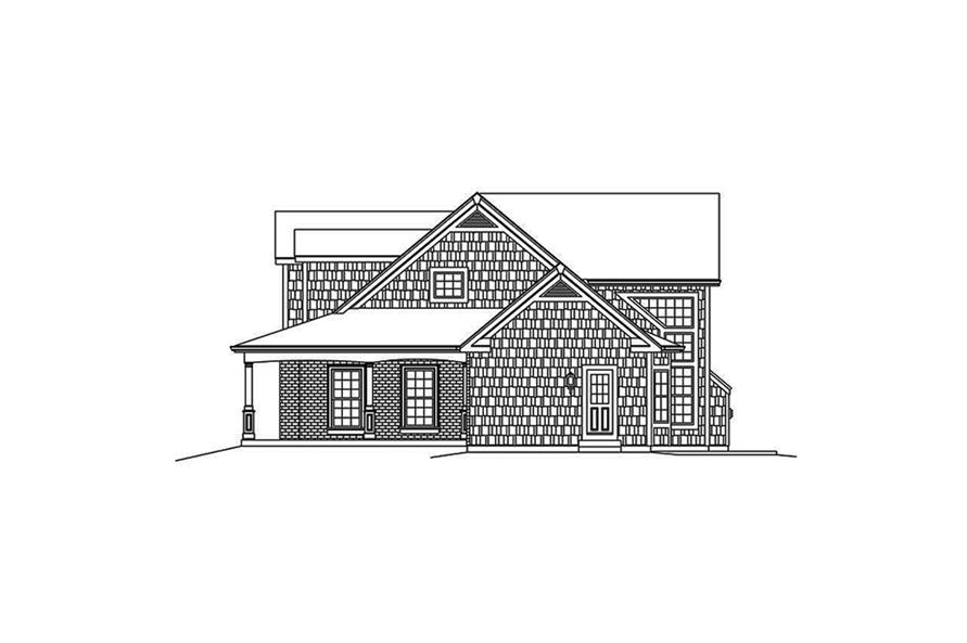Home Plan Right Elevation of this 4-Bedroom,3782 Sq Ft Plan -138-1340