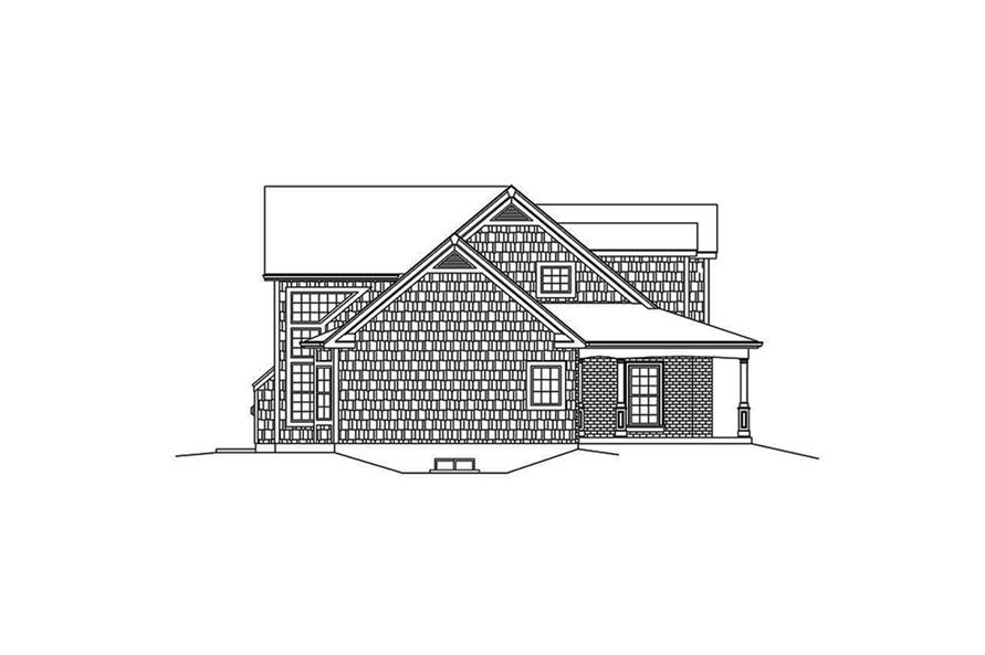 Home Plan Left Elevation of this 4-Bedroom,3782 Sq Ft Plan -138-1340
