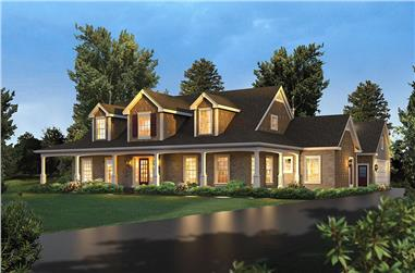 Front elevation of Country home (ThePlanCollection: House Plan #138-1340)