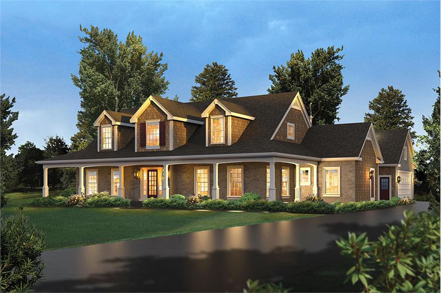 4-Bedroom, 3782 Sq Ft Country House Plan - 138-1340 - Front Exterior