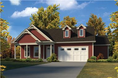 3-Bedroom, 2453 Sq Ft Country House Plan - 138-1341 - Front Exterior