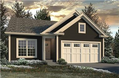2-Bedroom, 1433 Sq Ft Country Home Plan - 138-1342 - Main Exterior