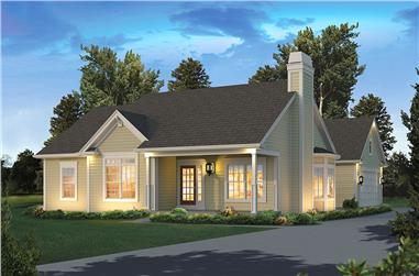 Front elevation of Country home (ThePlanCollection: House Plan #138-1345)