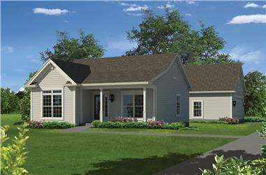 2-Bedroom, 944 Sq Ft Country Home Plan - 138-1347 - Main Exterior