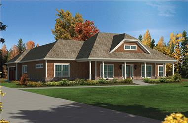 Front elevation of Country home (ThePlanCollection: House Plan #138-1348)