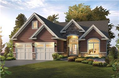 3-Bedroom, 1759 Sq Ft Craftsman Home Plan - 138-1349 - Main Exterior