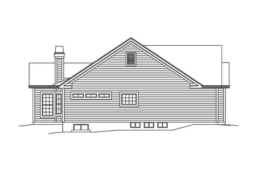 Home Plan Left Elevation of this 3-Bedroom,1820 Sq Ft Plan -138-1350