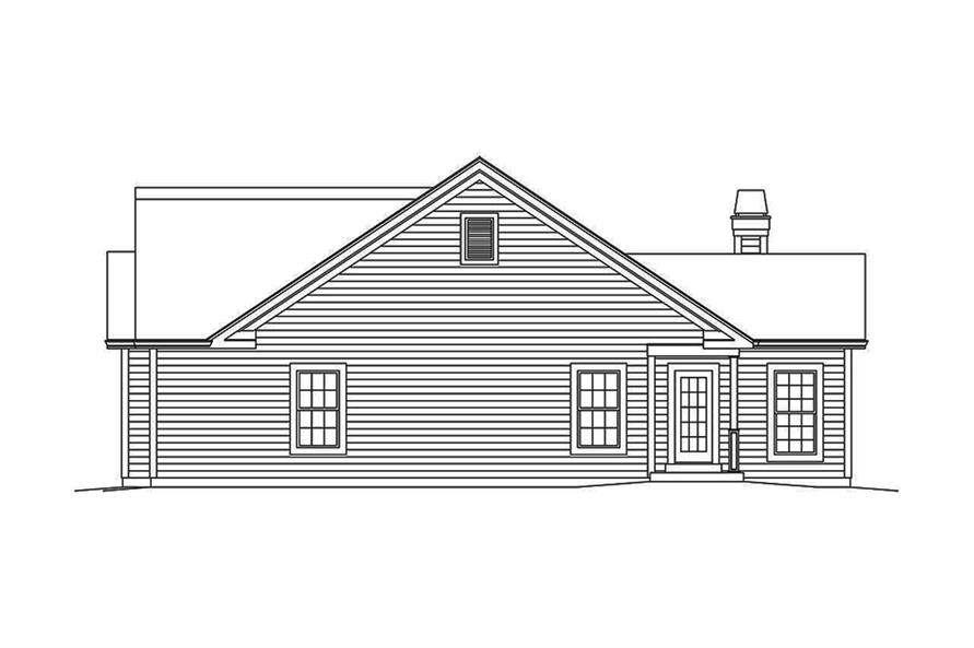 Home Plan Right Elevation of this 3-Bedroom,1820 Sq Ft Plan -138-1350