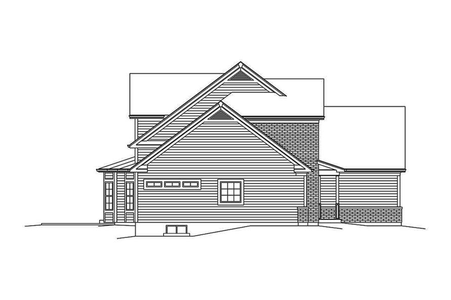 Home Plan Left Elevation of this 3-Bedroom,2240 Sq Ft Plan -138-1351