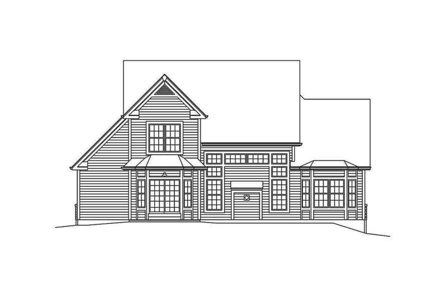 Home Plan Rear Elevation of this 3-Bedroom,2240 Sq Ft Plan -138-1351