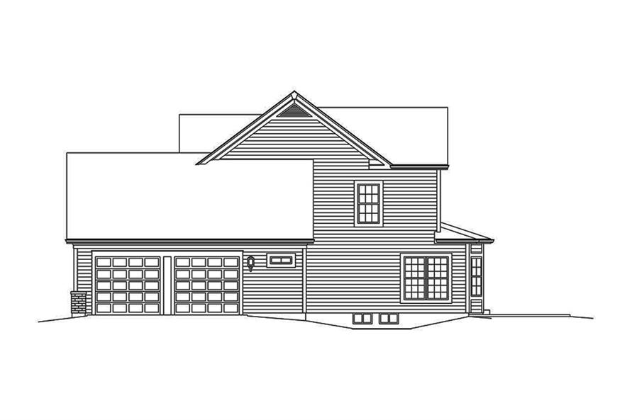Home Plan Right Elevation of this 3-Bedroom,2240 Sq Ft Plan -138-1351