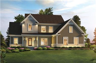 3-Bedroom, 2240 Sq Ft Country Home Plan - 138-1351 - Main Exterior