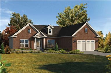 3-Bedroom, 1863 Sq Ft Country House Plan - 138-1352 - Front Exterior