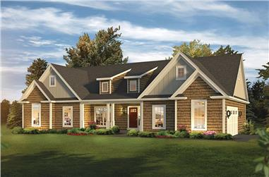 3-Bedroom, 2033 Sq Ft Country House Plan - 138-1357 - Front Exterior