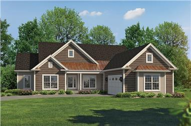 3-Bedroom, 2274 Sq Ft Country House Plan - 138-1358 - Front Exterior