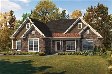 3-Bedroom, 2050 Sq Ft Country House Plan - 138-1359 - Front Exterior