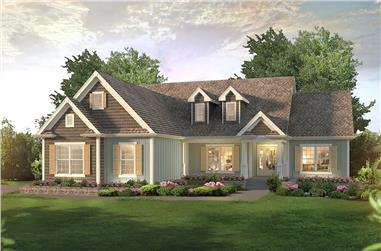 Front elevation of Country home (ThePlanCollection: House Plan #138-1360)