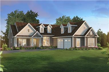 3-Bedroom, 1983 Sq Ft Country Home Plan - 138-1361 - Main Exterior