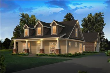 3-Bedroom, 1988 Sq Ft Country Home Plan - 138-1364 - Main Exterior