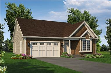 2-Bedroom, 1366 Sq Ft Country House Plan - 138-1366 - Front Exterior