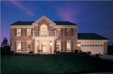 3-Bedroom, 2411 Sq Ft Traditional Home Plan - 138-1369 - Main Exterior