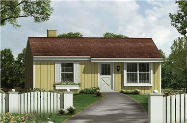 Front elevation of Country home (ThePlanCollection: House Plan #138-1383)