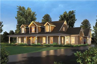 Front elevation of Country home (ThePlanCollection: House Plan #138-1401)