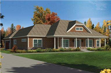 Front elevation of Country home (ThePlanCollection: House Plan #138-1409)