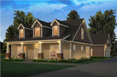 Front elevation of Country home (ThePlanCollection: House Plan #138-1425)