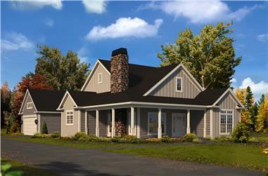 Front elevation of Country home (ThePlanCollection: House Plan #138-1426)