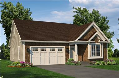 Front elevation of Country home (ThePlanCollection: House Plan #138-1427)