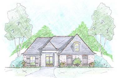 3-Bedroom, 1535 Sq Ft European House Plan - 139-1000 - Front Exterior