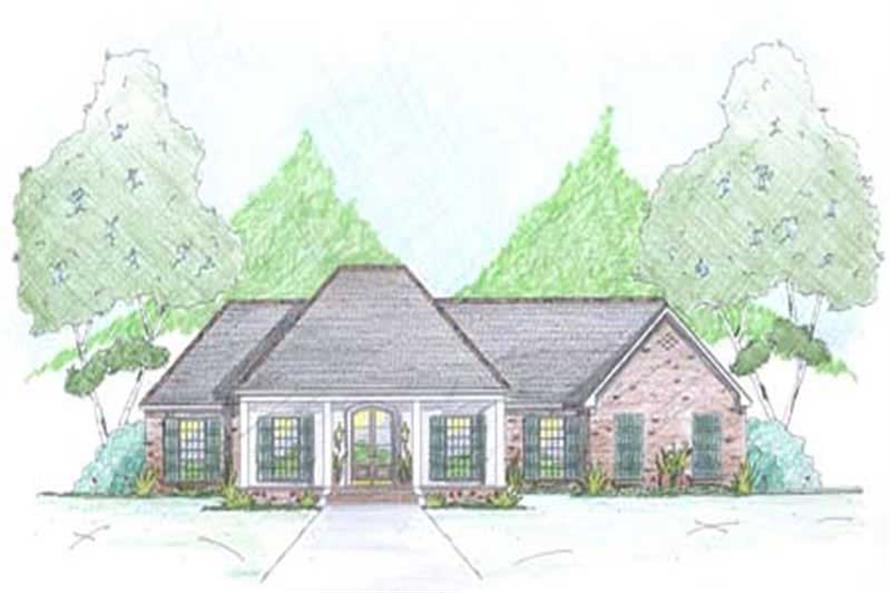 4-Bedroom, 2000 Sq Ft European House Plan - 139-1001 - Front Exterior