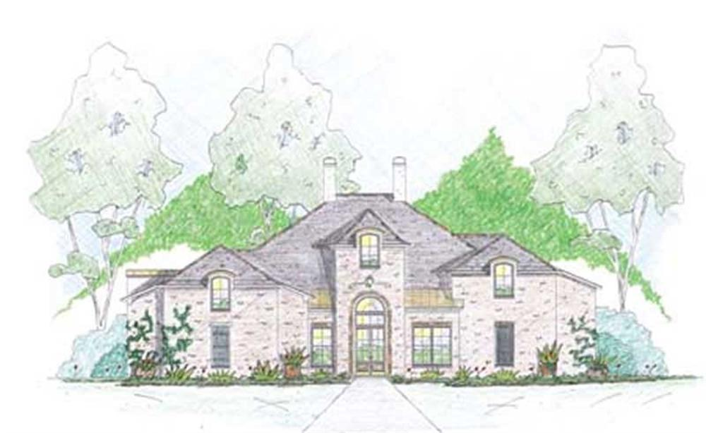 Front elevation of Cape Cod home (ThePlanCollection: House Plan #139-1003)