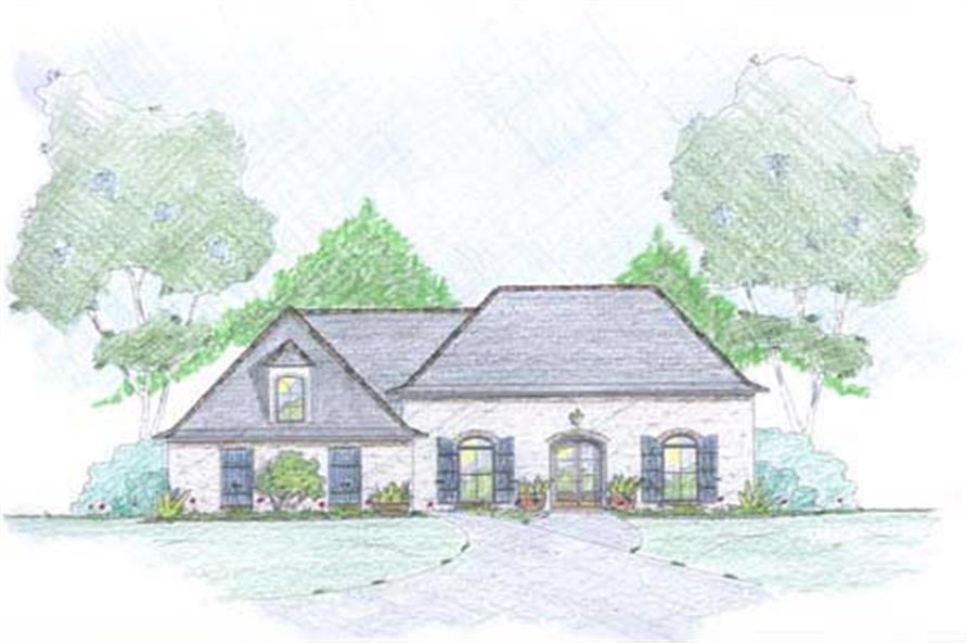 European Houseplans Colored rendering.