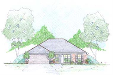 3-Bedroom, 1354 Sq Ft Ranch House Plan - 139-1006 - Front Exterior