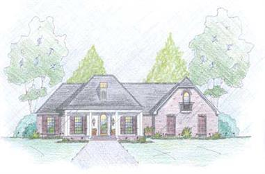 4-Bedroom, 2177 Sq Ft Country House Plan - 139-1008 - Front Exterior