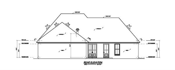 139-1010 house plan rear elevation