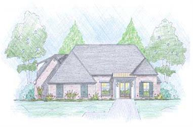 3-Bedroom, 1890 Sq Ft European House Plan - 139-1013 - Front Exterior