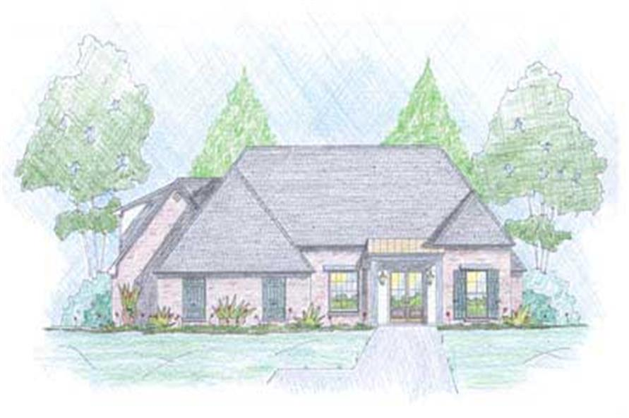 Color Rendered front elevation for European Houseplans PH 18-082-400.