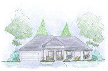 3-Bedroom, 1862 Sq Ft European House Plan - 139-1015 - Front Exterior