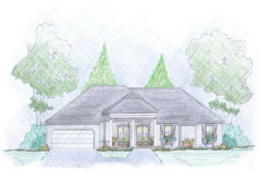 European Home Designs front elevation image.
