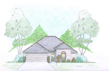 3-Bedroom, 1600 Sq Ft European House Plan - 139-1018 - Front Exterior